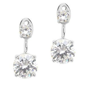 CZ Earring Jackets in Sterling Silver 925